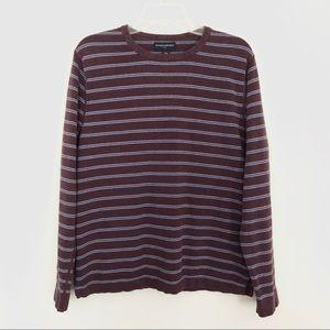 Banana Republic Striped Maroon & Blue Sweater | M